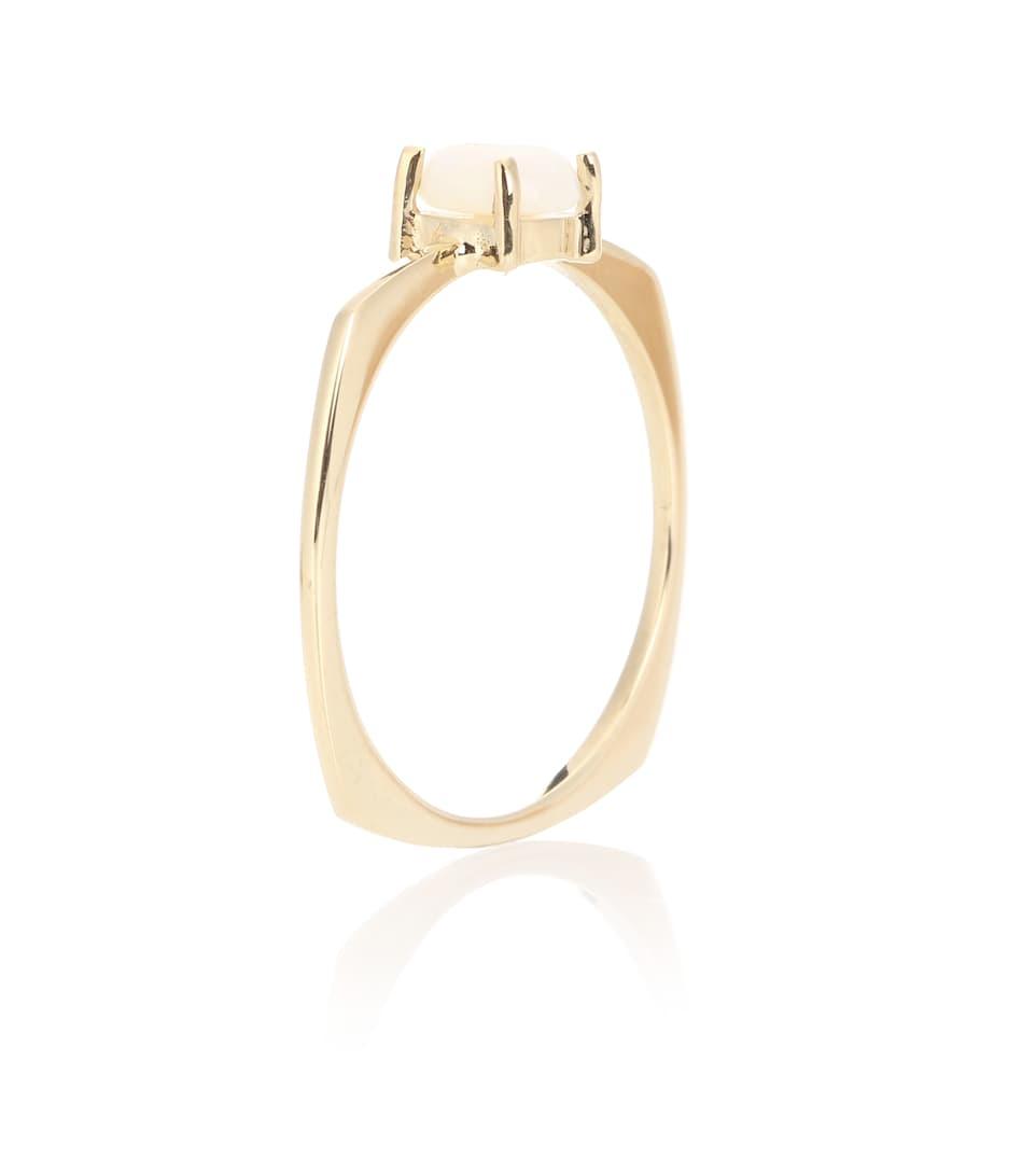 Aliita Aro 9kt gold ring with opal tbiLTl
