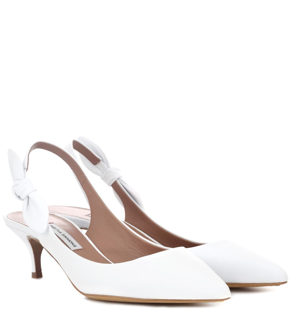 Rise leather slingback pumps Tabitha Simmons