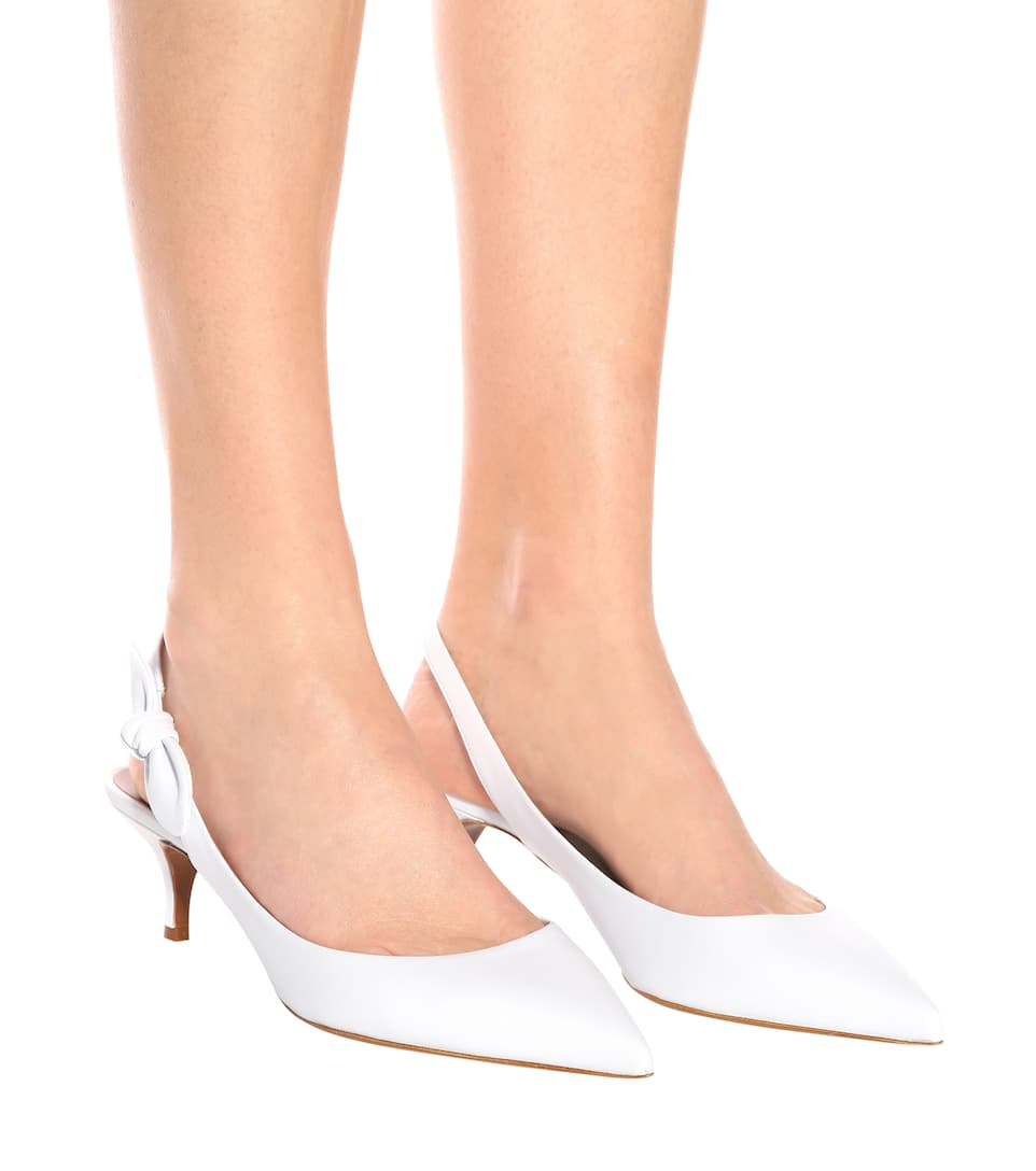 Cheap Classic Free Shipping Brand New Unisex Tabitha Simmons Rise leather slingback pumps White From UK Designer Comfortable Cheap Price jvRPjR