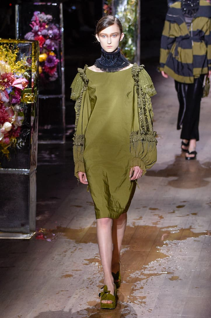 Embellished Dress Runway Dries Van Noten
