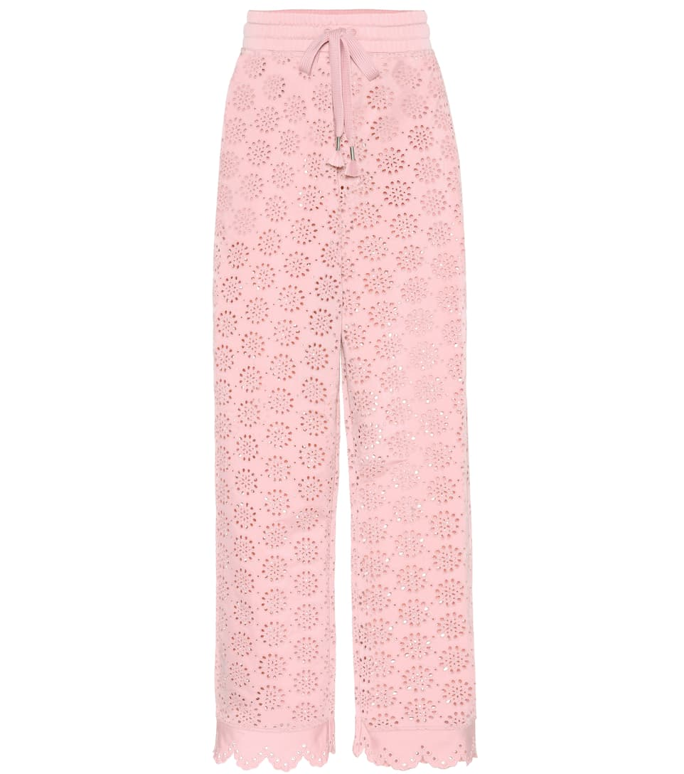 EMBROIDERED JERSEY TROUSERS