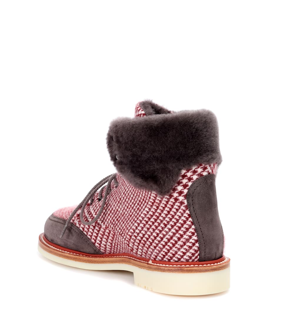 Loro Piana Ankle Boots Lucy Walk mit Shearling
