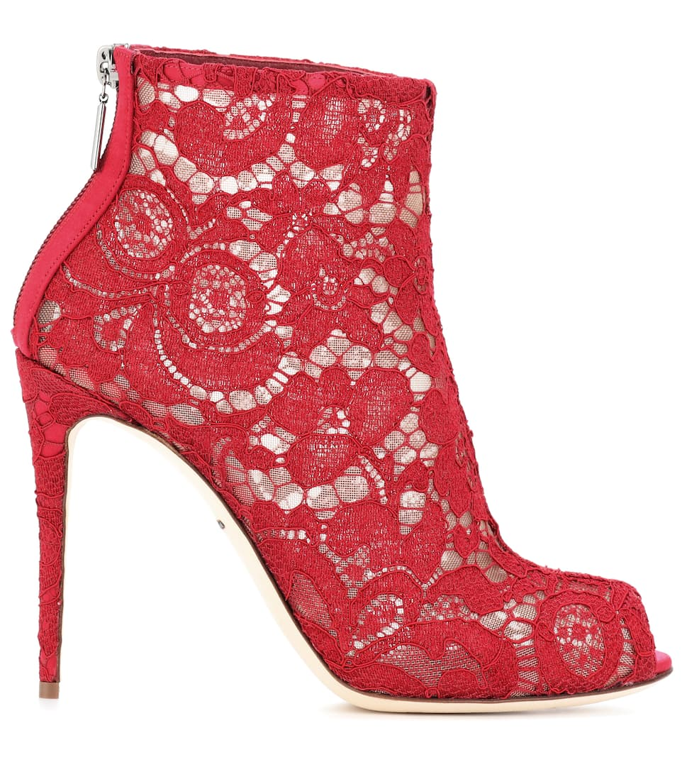 Dolce & Gabbana Ankle Boots aus Spitze