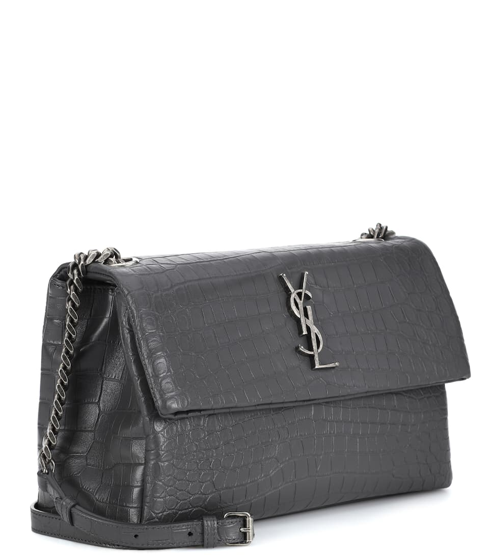 Saint Laurent Schultertasche West Hollywood Monogram Small aus Leder