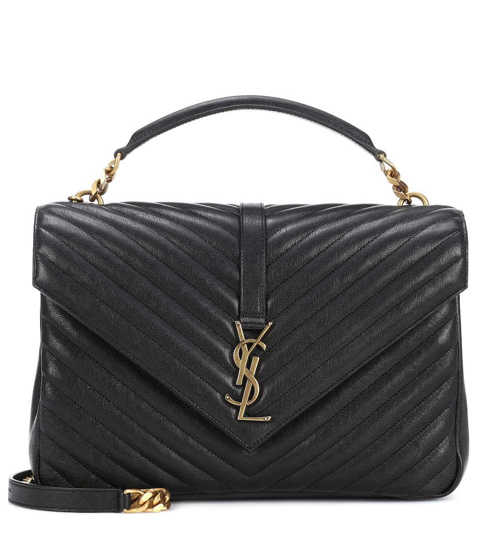 Saint Laurent Schultertasche Collège Monogram Large aus Leder