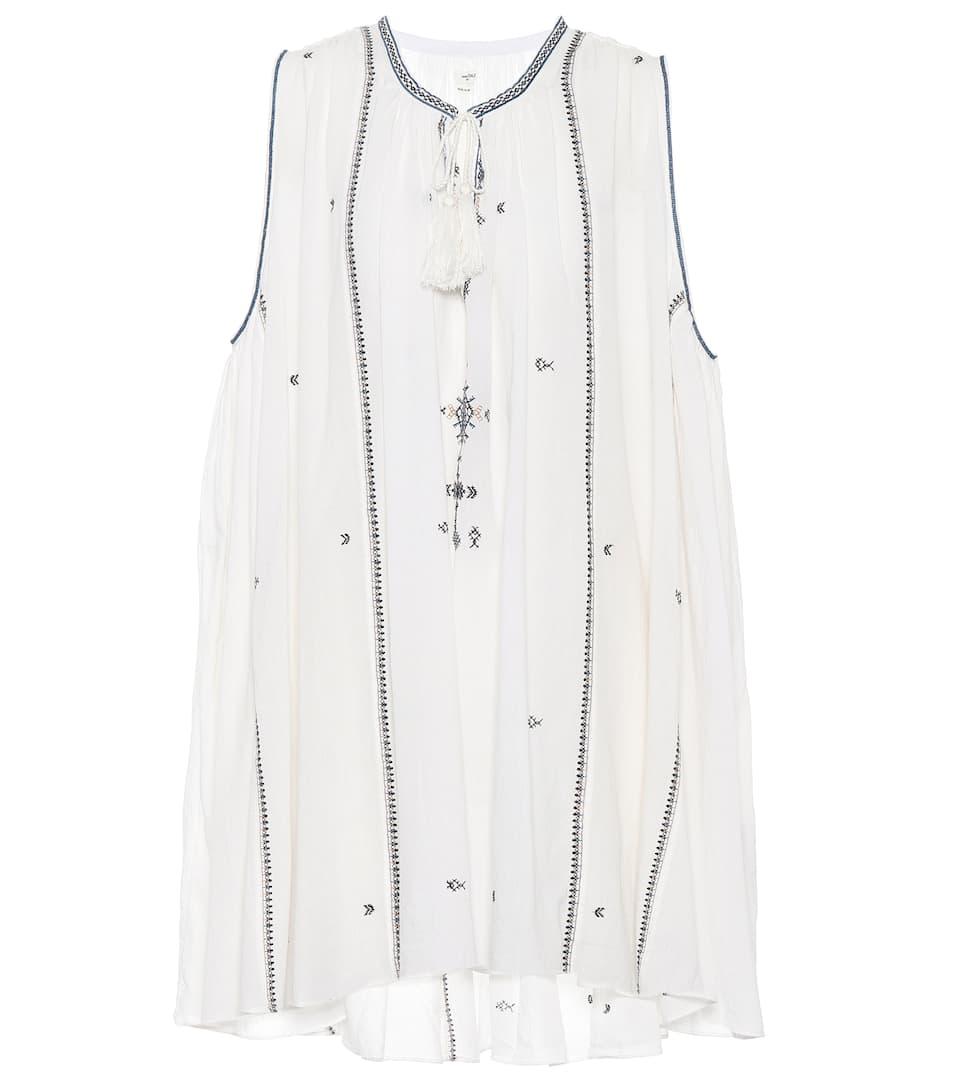Isabel Marant, Étoile Kleid Malya aus Baumwolle mit Stickerei