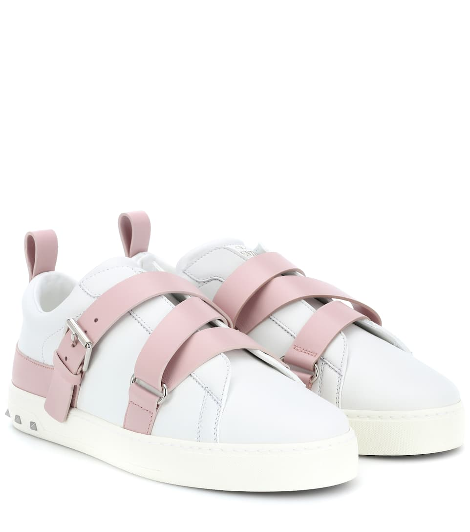 Valentino Garavani V-Punk leather sandals Buy Cheap The Cheapest Get Authentic For Sale e05OobSGp