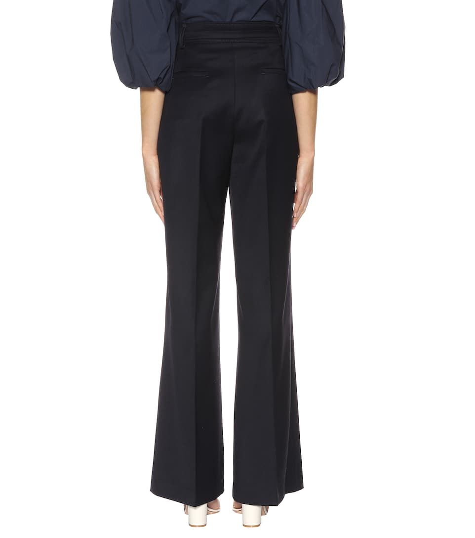 Dark Navy Hearst Gabriela Dora pantalones alta lana de de cintura 78WFzcwdqW