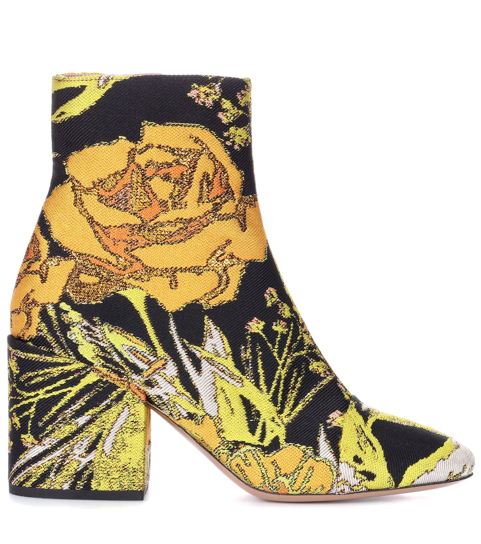 Dries Van Noten Ankle Boots aus Jacquard