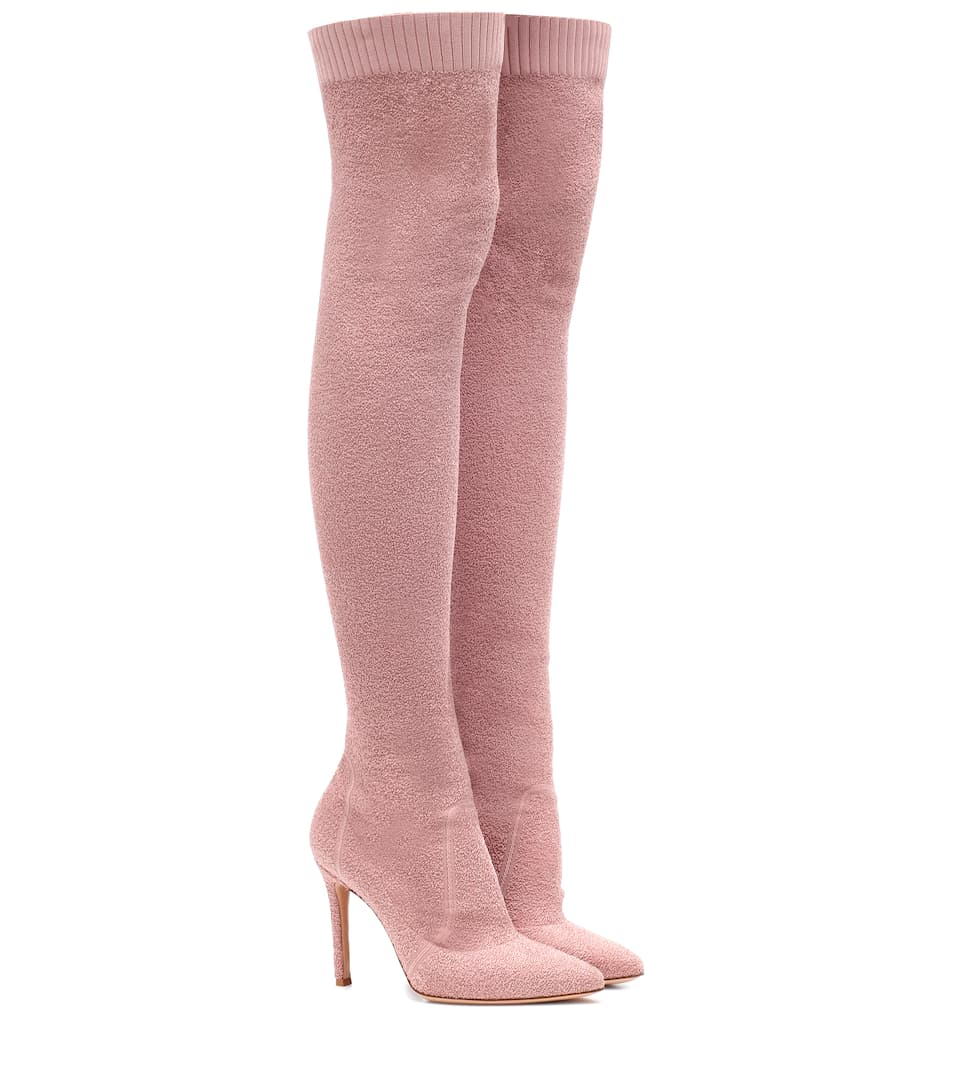 Fiona 105 Bouclé Over The Knee Boots by Gianvito Rossi