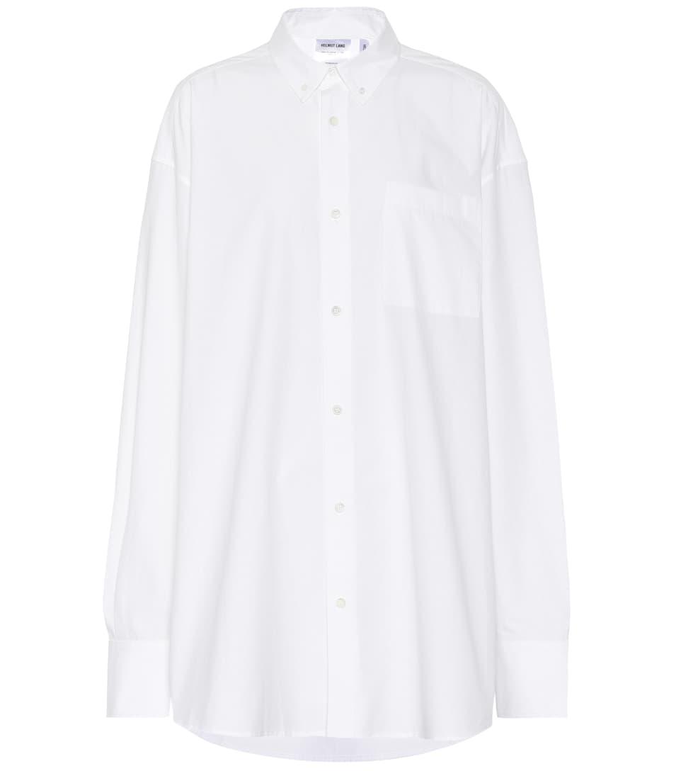 Helmut Lang - Chemise en coton à paillettes Vente Pas Cher Confortable KigrZ6YG