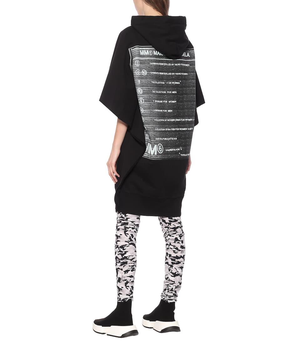 MM6 Maison Margiela - Printed cotton hoodie