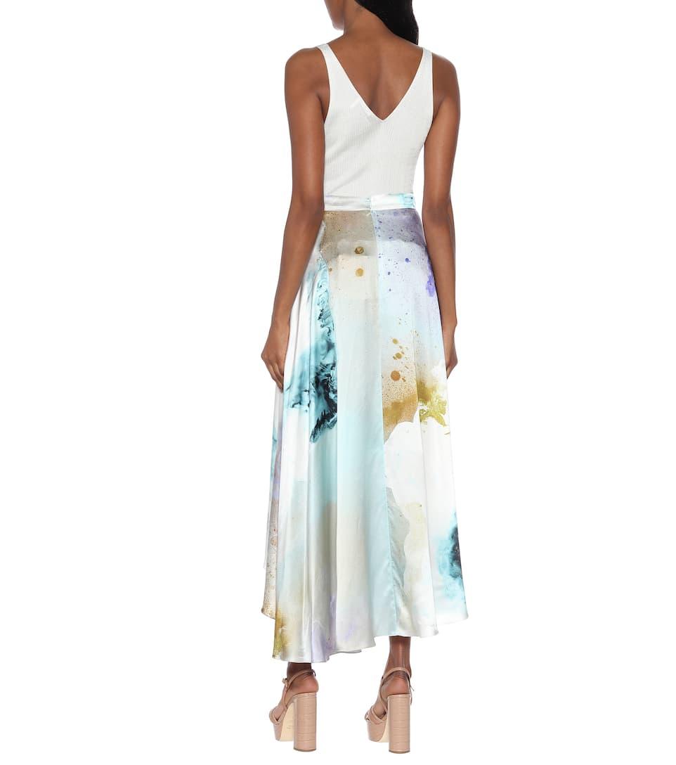 Roksanda - Zinja printed high-rise silk skirt