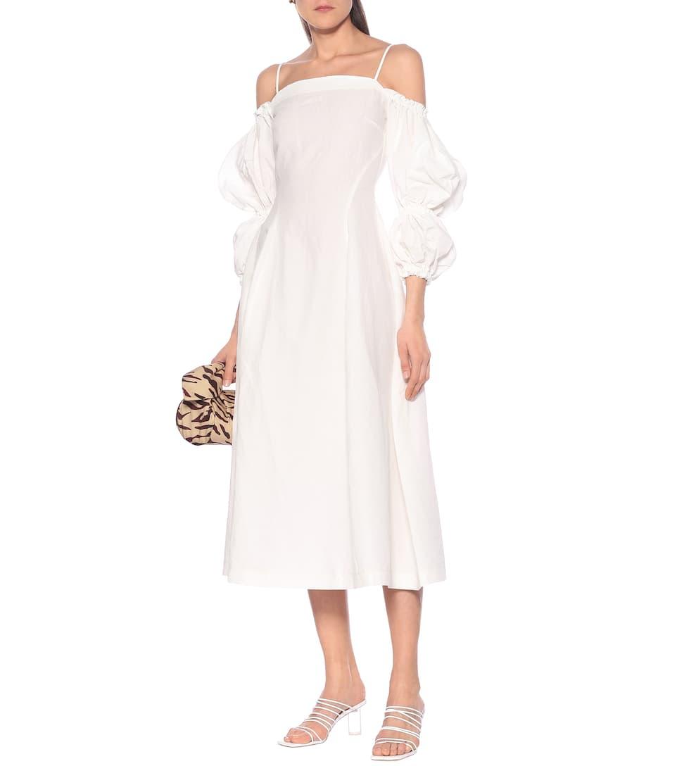 Rejina Pyo - Lorna linen and cotton midi dress