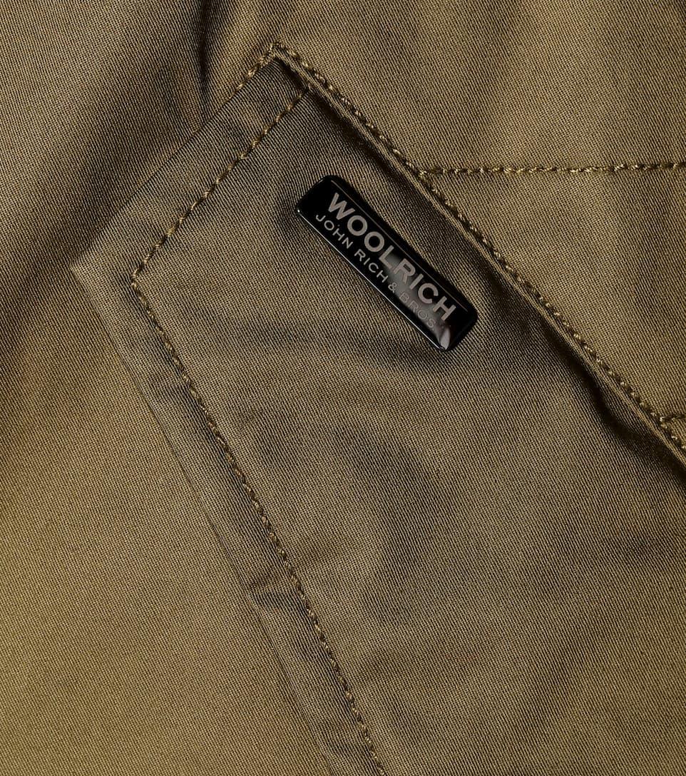 Sobre algodón Woolrich de parka Green Shinny W'S Tw6Pq5c1p