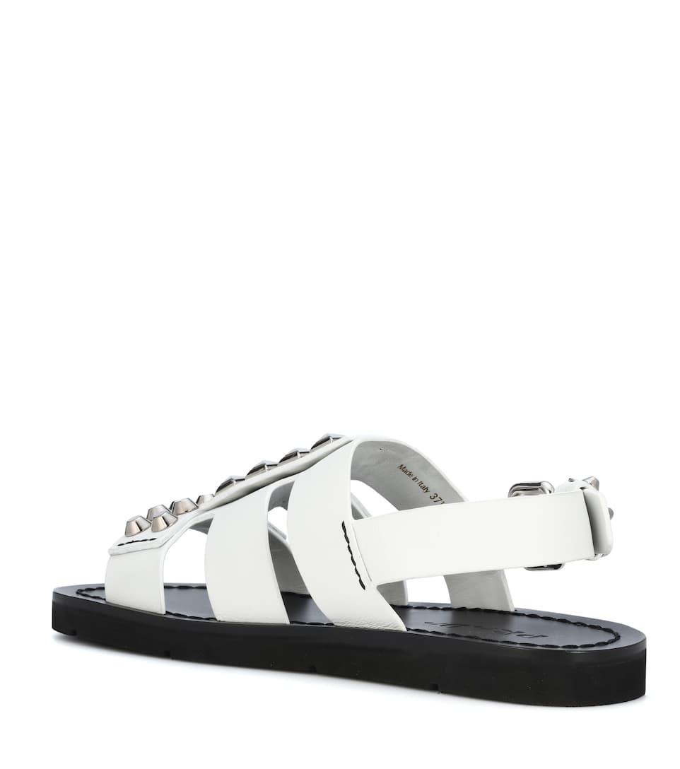 Verzierte Sandalen aus Leder Prada K7dfuXL