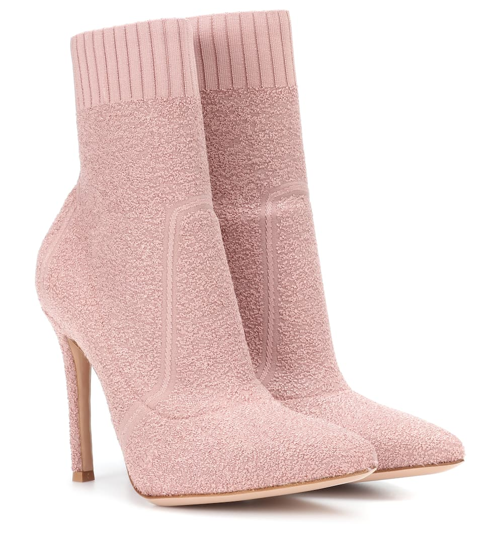 Gianvito Rossi - Bottines en maille stretch Fiona
