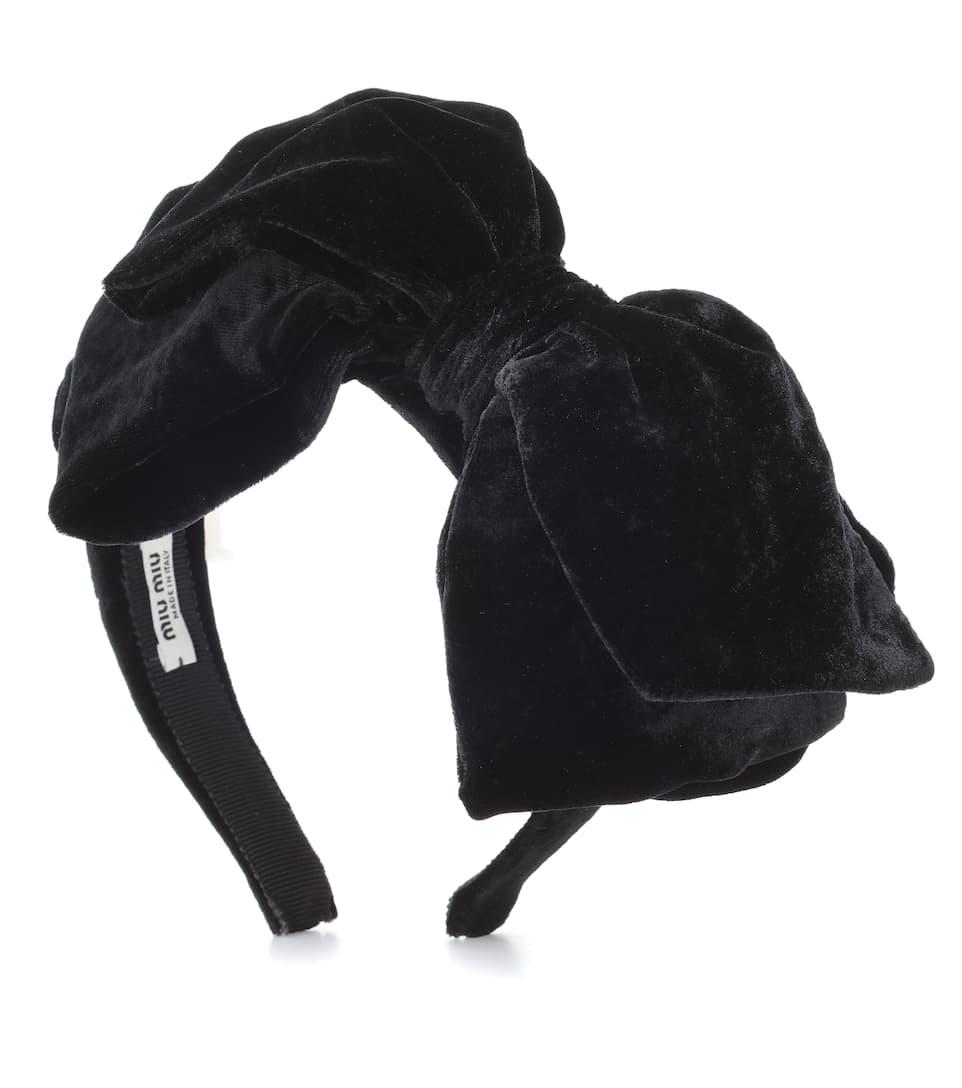 Velvet Bow Headband - Miu Miu  3f2e0410e5d66