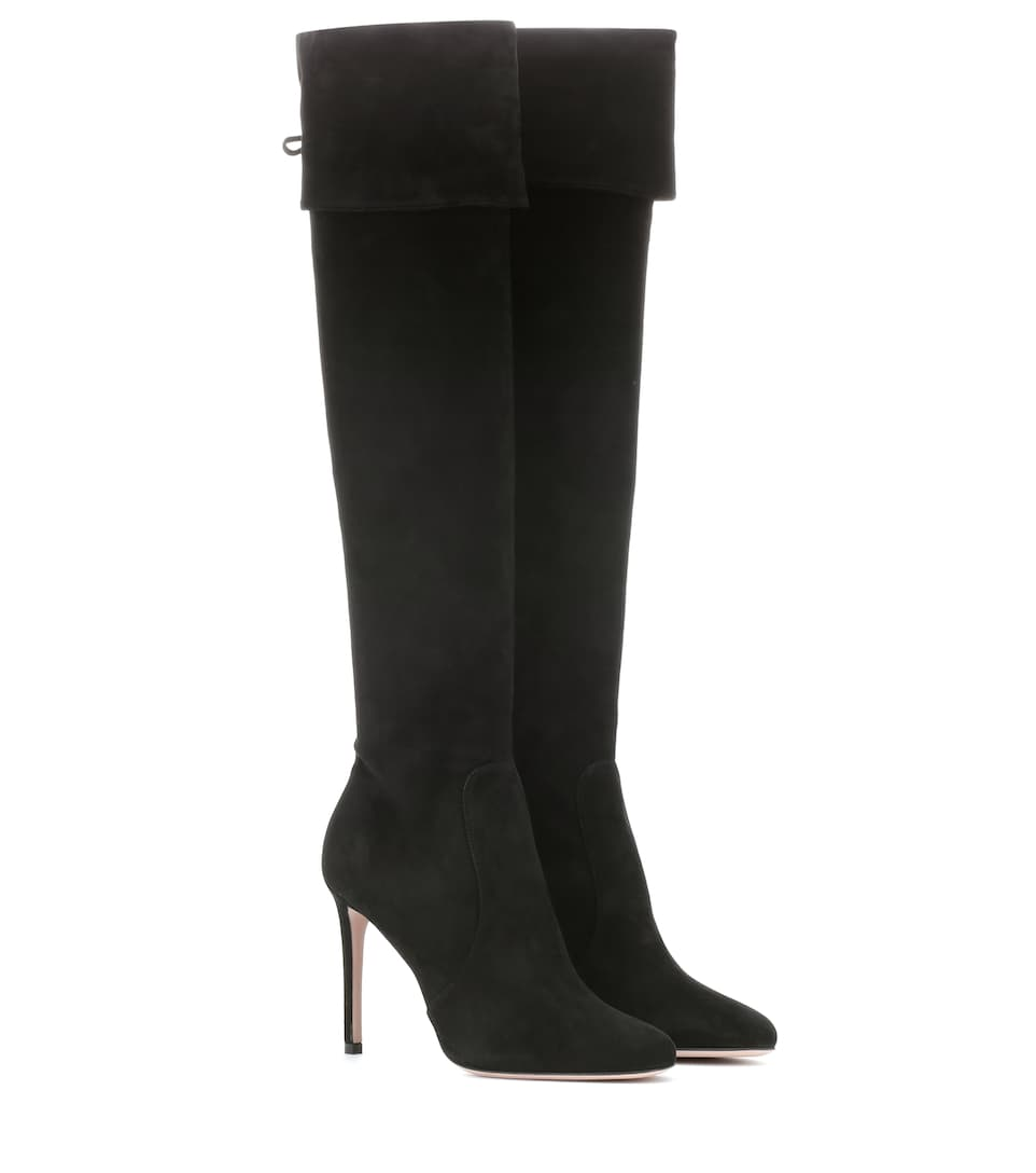 4dd6e32209f Suede Knee-High Boots - Prada