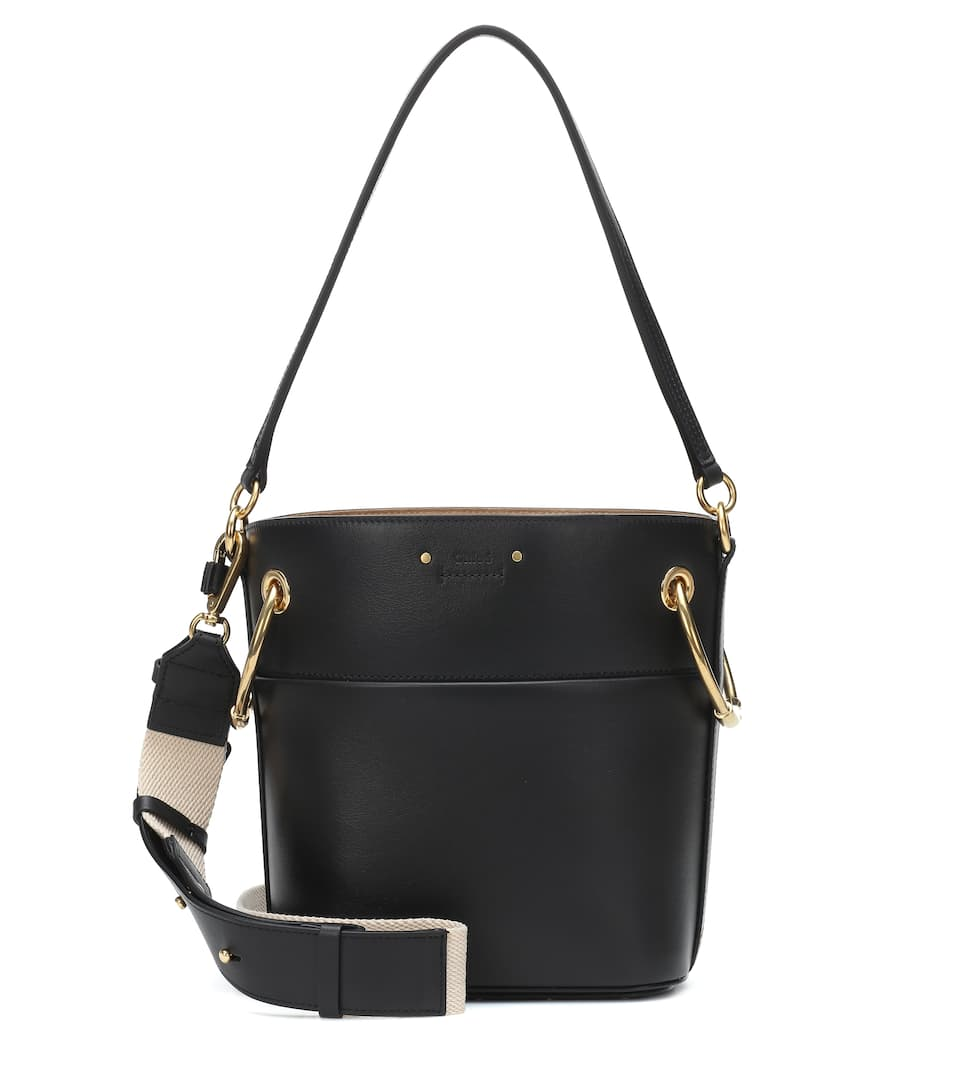 Roy Small Leather Bucket Bag by Chloé