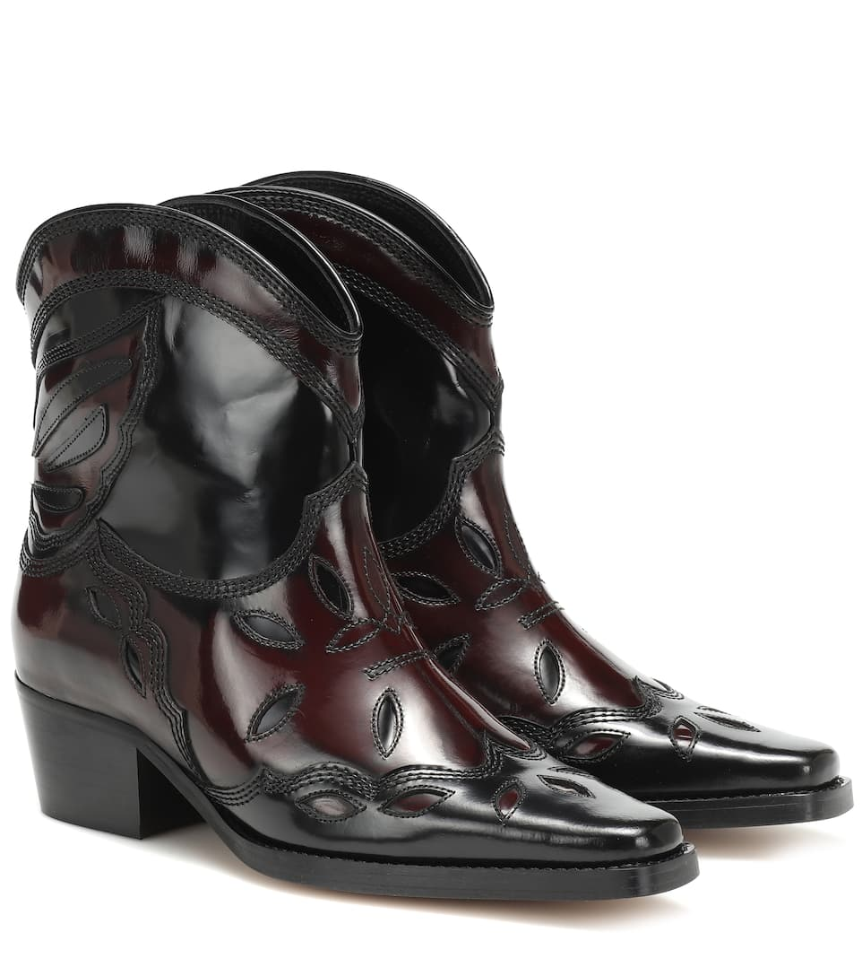 ae2626c491f Exclusive to Mytheresa – Low Texas leather ankle boots