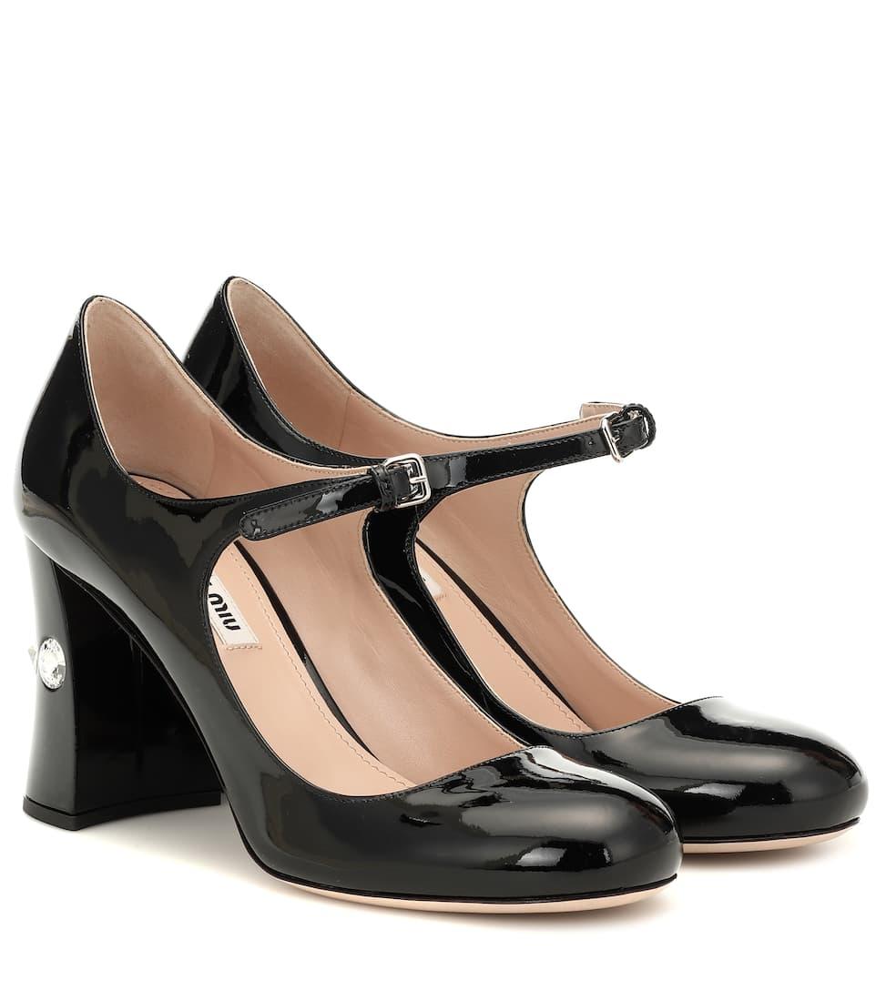 8e55f72bc Miu Miu - Patent leather Mary Jane pumps | Mytheresa