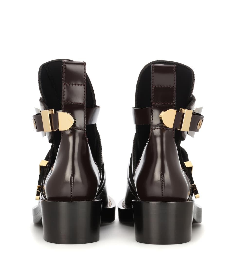 Balenciaga Leder-Boots Ceinture mit Cut-outs