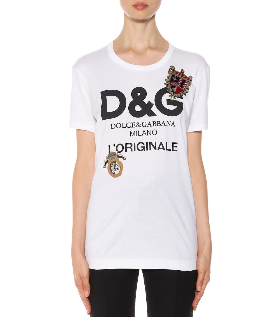 Dolce & Gabbana Printed T-shirt Made Of Cotton With Ornaments