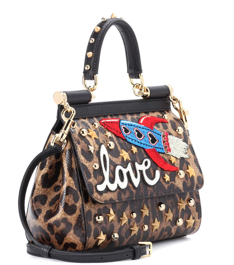 Leo Bolso Con Logo Gabbana estampado con Sicilia de amp; leopardo Dolce amp; pequeño vwfq1wF6