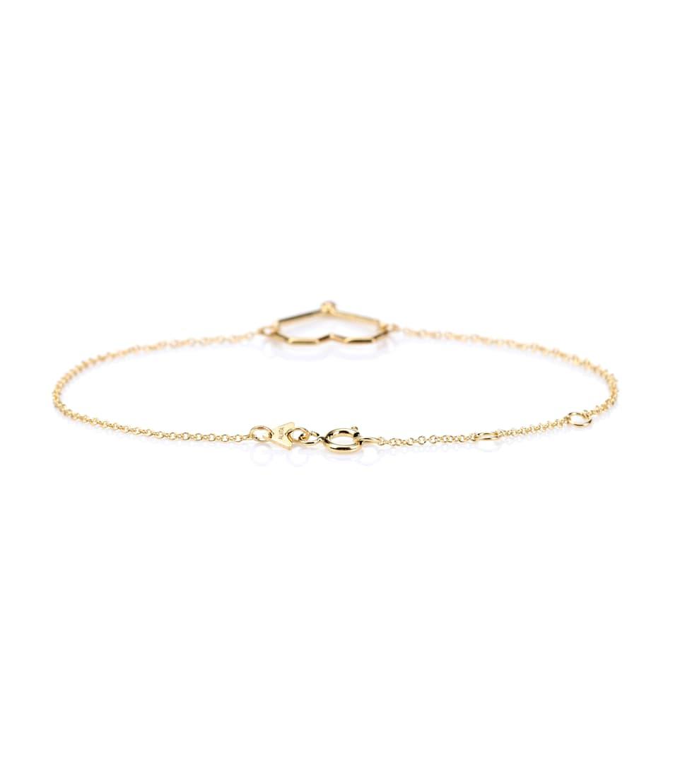 Aliita Corazon Rubi 9kt gold and ruby chain bracelet M5V07llMgF