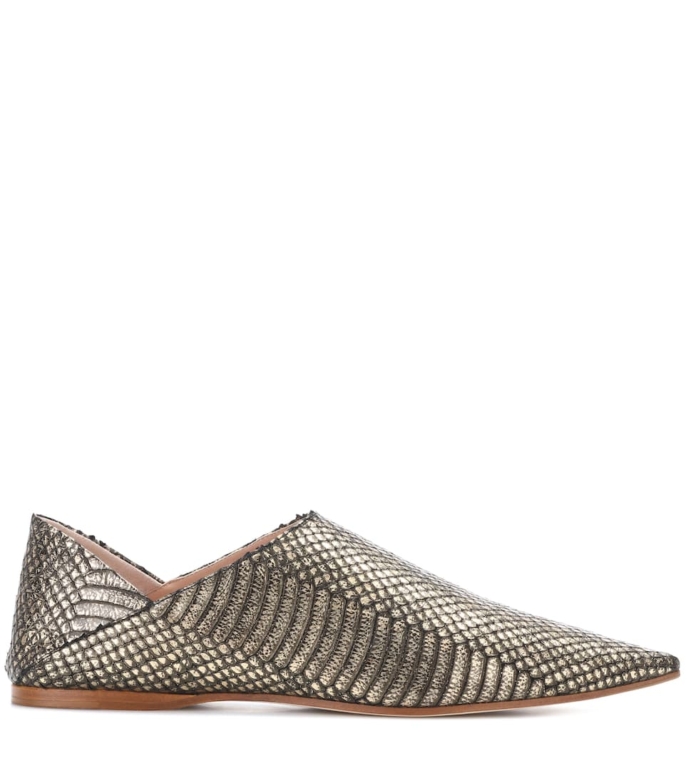 Acne Aminatha leather babouche slippers Sale Clearance Store Geniue Stockist Sale Online EETnbyVh