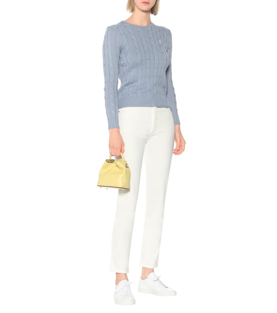Polo Ralph Lauren Pullover aus Baumwolle mit Zopfmuster