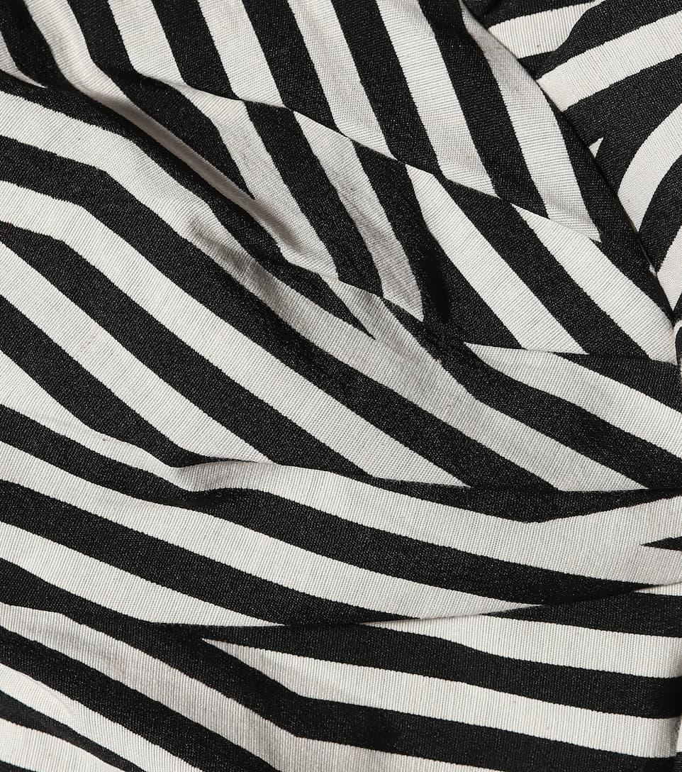 rayas mono Autorretrato blanco algodón de negro a YIdEwdnqr