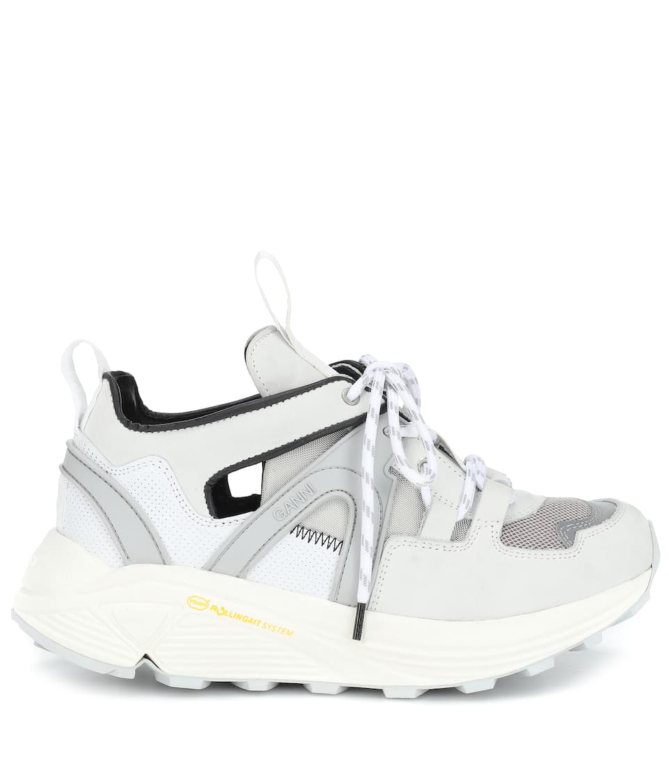 Pelle Tessuto E Sneakers Ganni In WE29DHI
