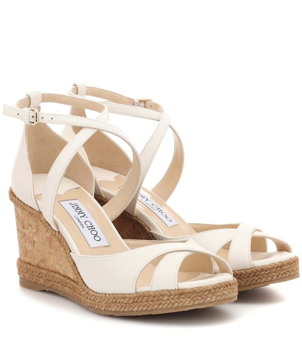 3c363bef186 Alanah 80 Leather Wedge Sandals
