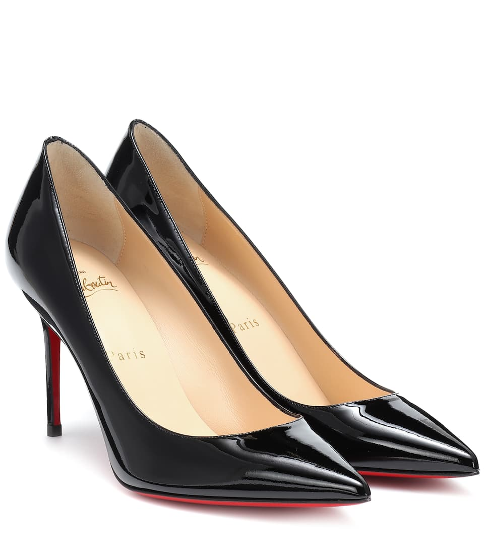 Christian Louboutin Pigalle Follies 85 Patent-leather Pumps In Black
