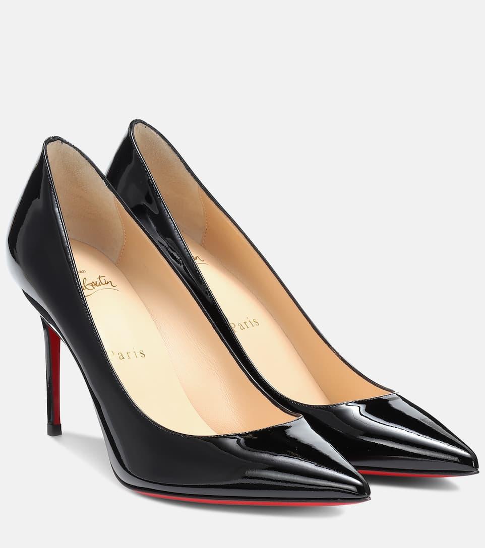 la moitié 7eb40 d80fd Christian Louboutin - Escarpins Kate 85 en cuir verni ...