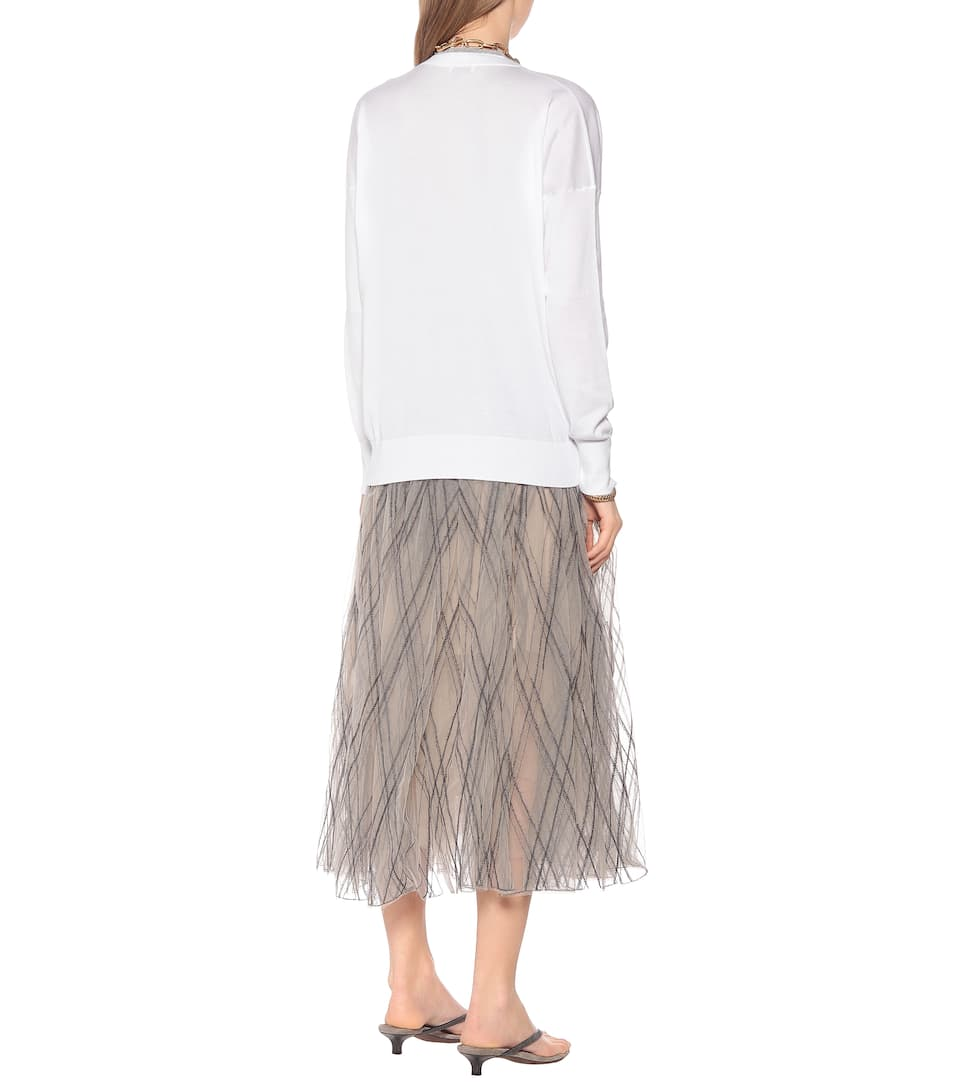 Brunello Cucinelli - Embellished cotton sweater