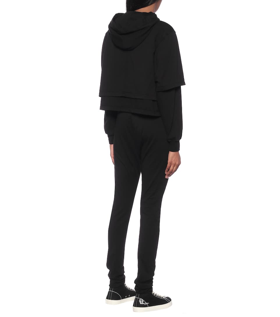 Rick Owens - Cropped cotton hoodie