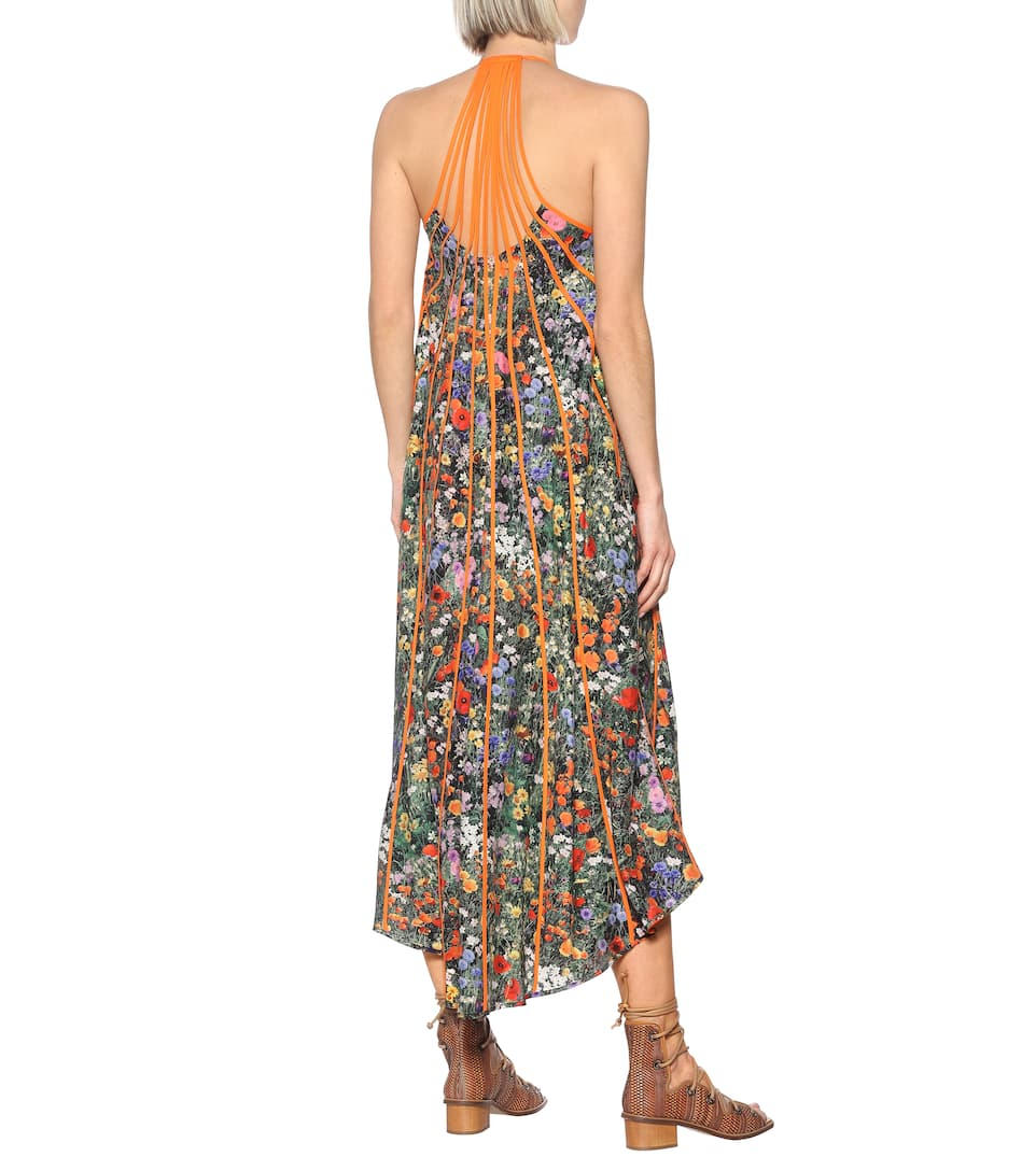 Klara Floral Pleated Silk Maxi Dress | Stella McCartney - Mytheresa