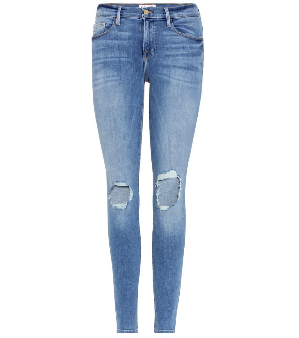 Frame - Le Skinny de Jeanne distressed jeans   mytheresa.com