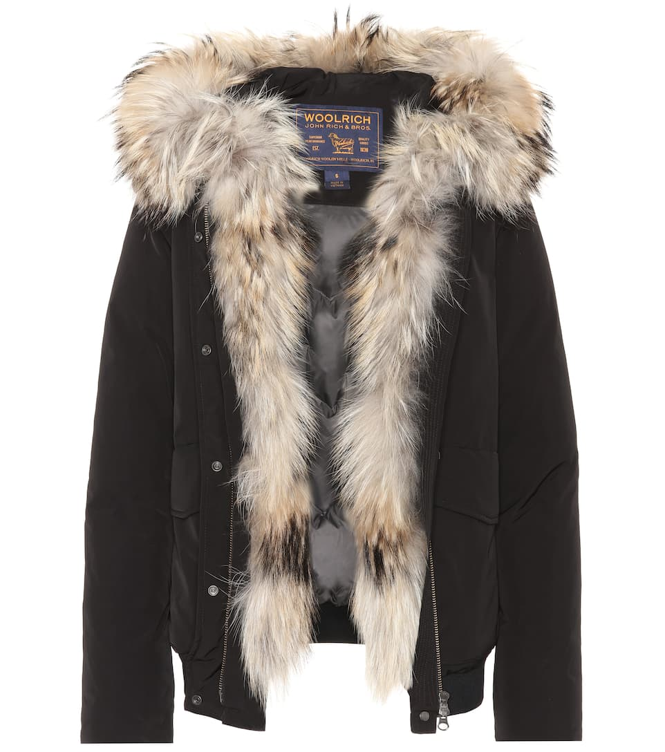 Woolrich Jacket Military With Fur And Braid