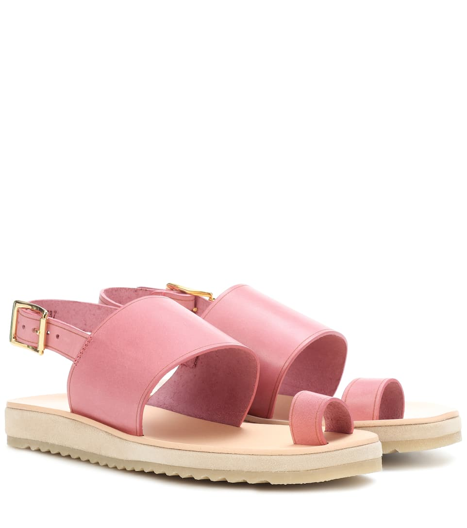 Rome Leather Sandals in Pink
