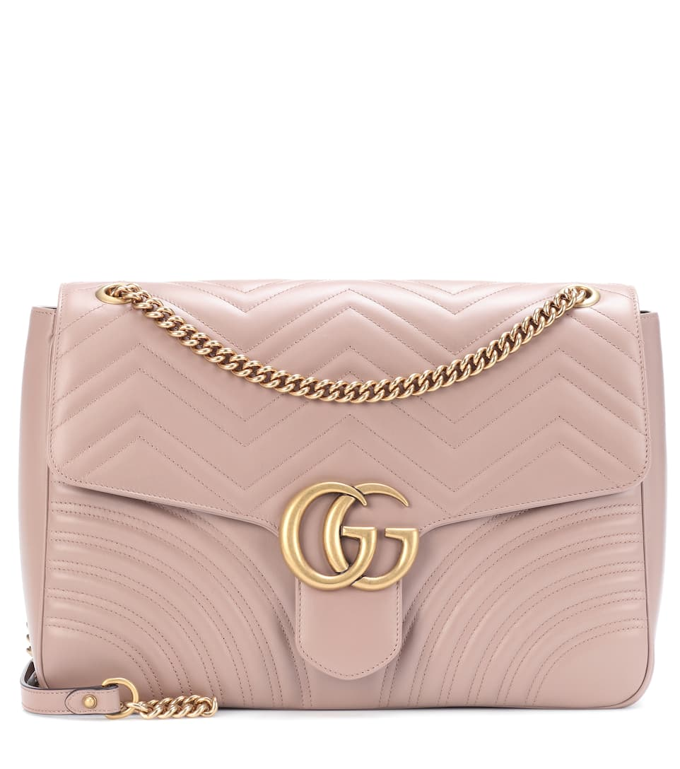 GG MARMONT LARGE LEATHER SHOULDER BAG