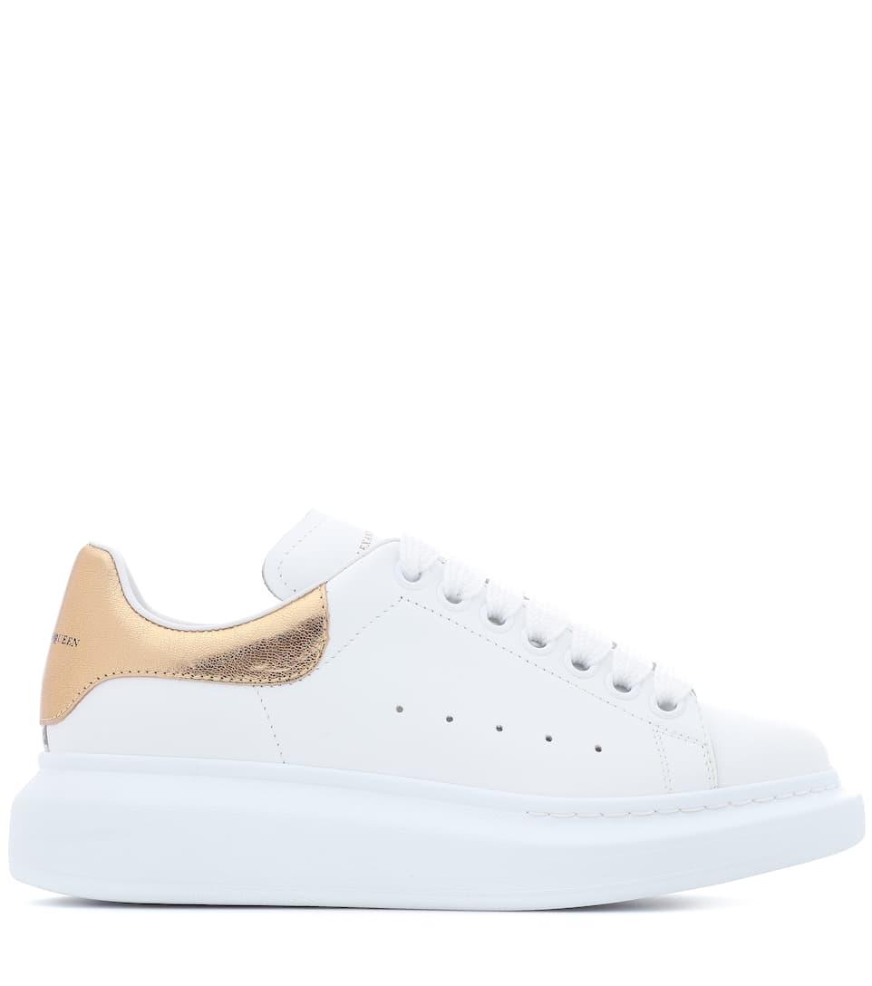 Alexander McQueen Plateau-Sneakers aus Leder