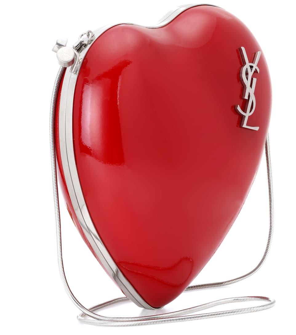 Günstige Angebote Neuesten Kollektionen Zu Verkaufen Saint Laurent Schultertasche Love aus Lackleder Günstig Kaufen Neue Stile qClZvZIxi