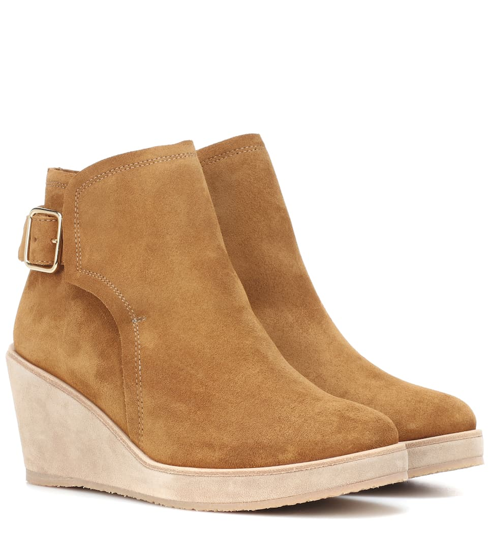 A.P.C. Wedged Ankle Boots in Neutrals
