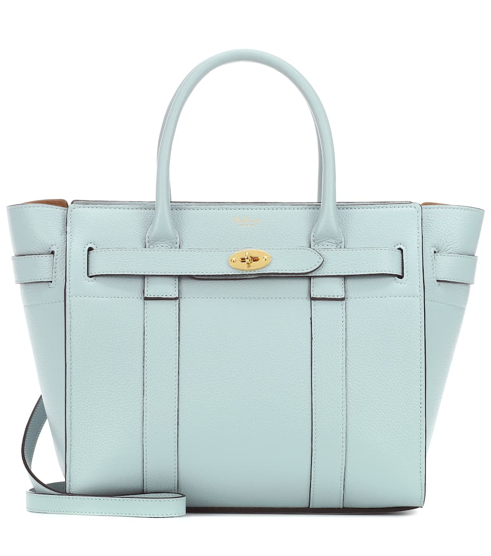 f3658cc5b0 Small Bayswater Leather Tote - Mulberry