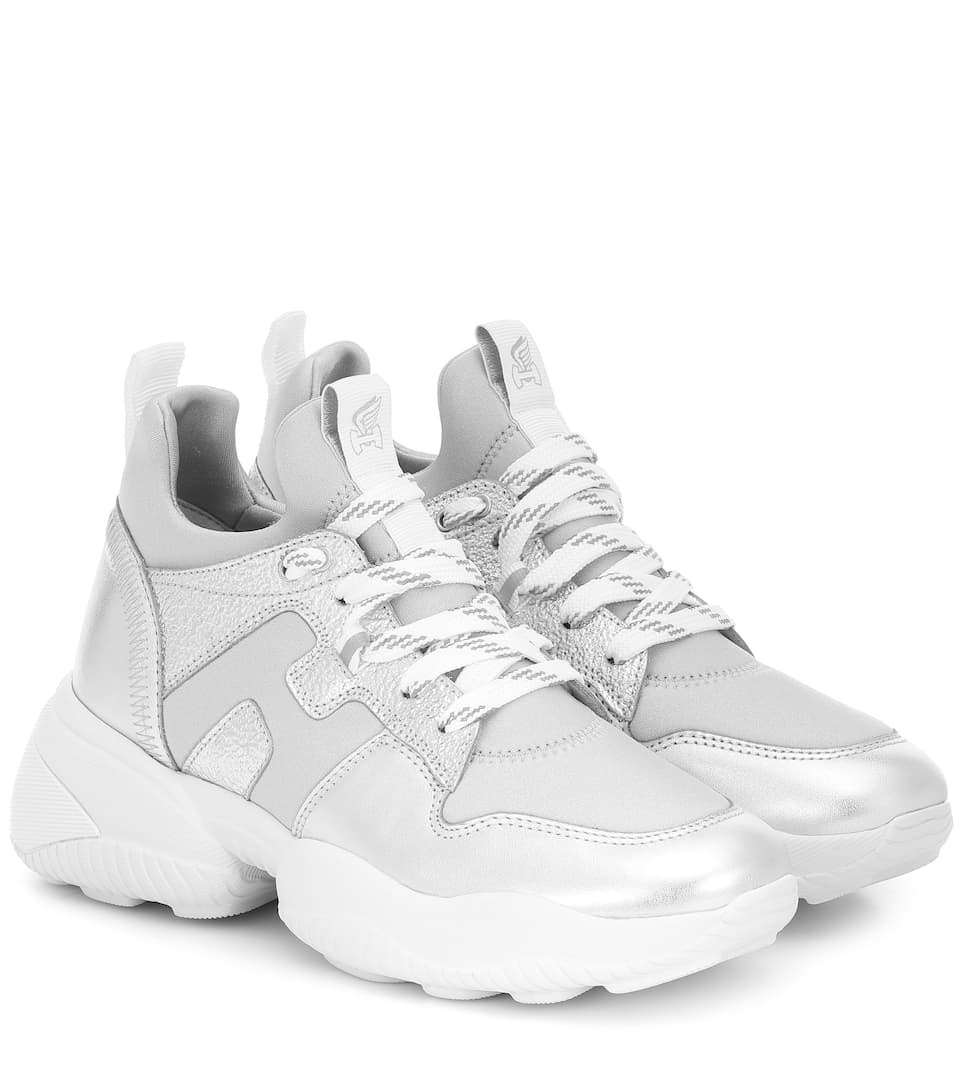 H487 Interaction leather sneakers