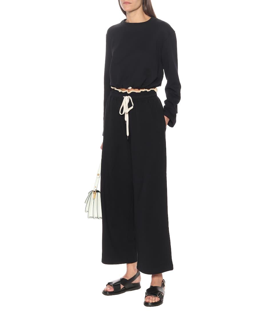 Marni - High-rise cotton track pants